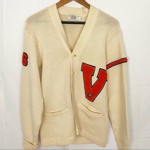 Vintage 1966 men's golf varsity sweater.